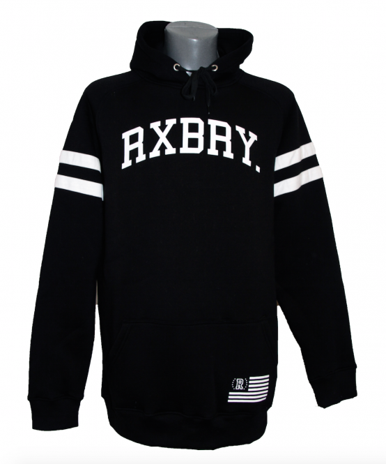 Roxburry Stripes Hoodie Black