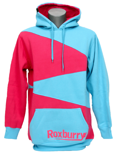 Roxburry Hoodie Light Blue/Pink